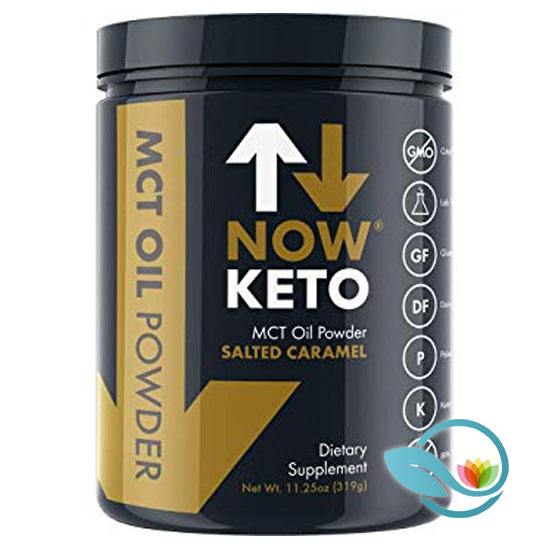 Now-Keto-MCT-Oil-Powder,-Salted-Caramel