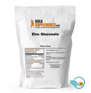 BulkSupplements Zinc Gluconate Powder