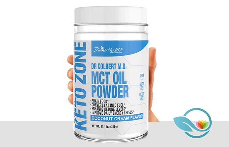 Dr. Colbert's Keto Zone by Divine Health: Coffee Creamer MCT Oil Powder