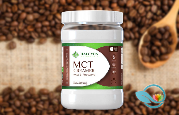 Halcyon Botanicals MCT Creamer: Medium Chain Tryglycerides with L-Theanine