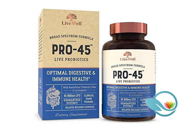 LiveWell Labs Nutrition Pro-45 Live Probiotics