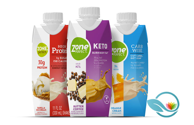ZonePerfect Keto Shake: Ketogenic Diet Drink with Butter Coffee to Burn Fat