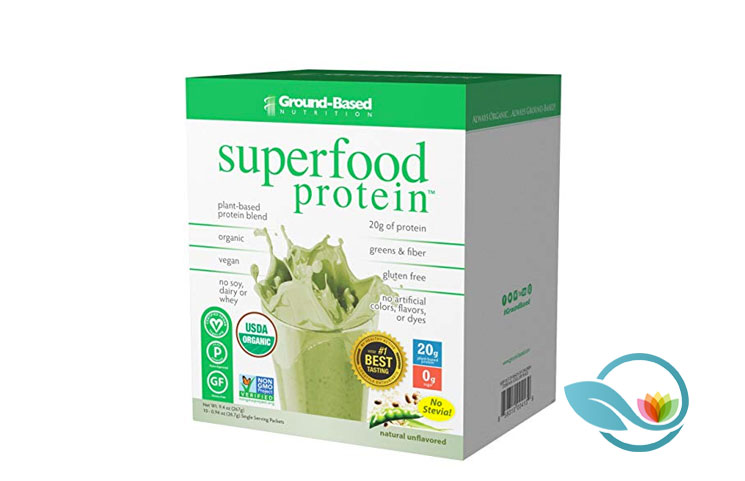 Ground-Based Nutrition Superfood Protein: Certified Organic Plant-Based Powder