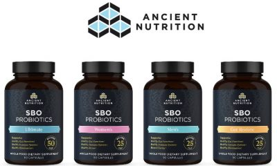 New Ancient Nutrition Probiotics Launch with 4 Formulas; Ultimate, Gut Restore and Men's & Women's