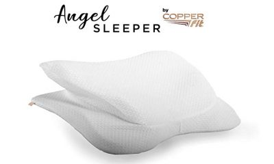 Copper Fit Angel SLEEPER: New Posture Pillow for Back and Side Sleepers