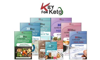 Key For Keto: Ultra-Fast 30-Day Keto Challenge Meal Plan Recipes Guide