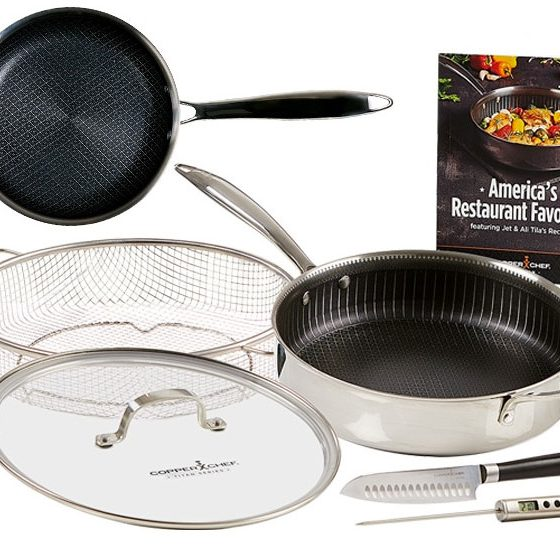 Copper Chef Titan Pan: Professional Home Stainless Steel Non-Stick Cookware