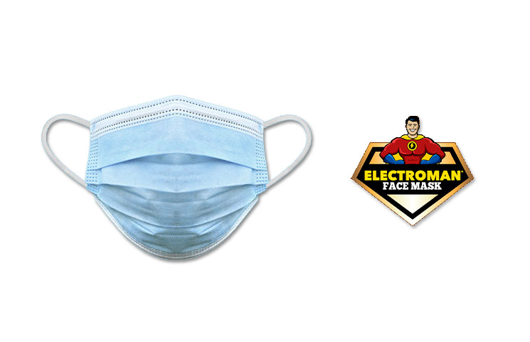 Electroman Face Mask: Get a Mask and Hand Sanitizer in One Package