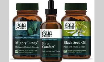 Gaia Herbs New Respiratory Supplements Include Lung and Sinus Support