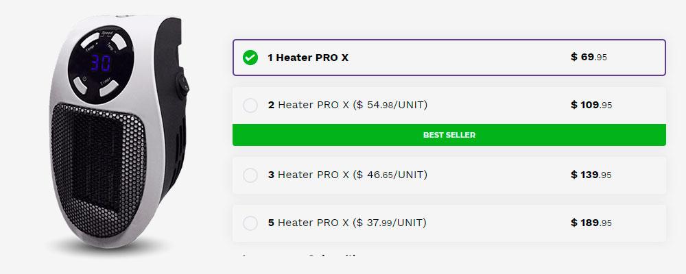 Heater-Pro-X-price