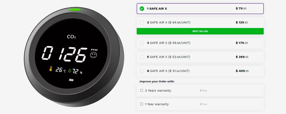 Safe-Air-X-price